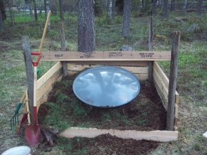 compost with a stylie hat